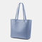 Women 3Pcs Multi-pocket Large Capacity 13.3 Inch Laptop Key Solid Tote Shoulder Bag with Purse Organizer Insert - Blue