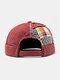 Unisex Cotton Patchwork Color-match Brimless Beanie Landlord Cap Skull Cap - Wine Red