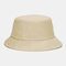 Unisex Fashion Casual Jelly Color Solid Poetable Sunscreen Outdoor Sun Hat Bucket Hat - Apricot