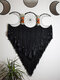 1 PC Handmade Multicolor Triple Moon Dream Catcher A Gift of Love and Healing Bedroom Home Decor Wall Hanging Ornaments - Black