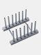 1Pc Multi-function Bowl Plate Dish Drainer Rack Shelf For Kitchen Tools Storage Pot Lid Holder Sink Shelving Organizer Kitchen Tool - Gray