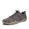 Men Casual Lace-up Breathable Non Slip Casual Driving Shoes - Gray