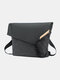 Stylish Oxford V-type Anti-theft Buckle Strengthen Strap Lightweight Waterproof Breathable Business Crossbody Bag - Gray
