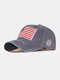 Men Washed Cotton Embroidery Baseball Cap Outdoor Sunshade Adjustable Hats - Navy