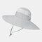 Increase The Hat Men's Fisherman Hat Waterproof Outdoor Sun Hat Sunscreen Mountaineering Hat - Light Grey