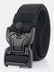 125CM Men Nylon Belt Zinc Alloy Magnetic Buckle Tactical Casual Belt - Black