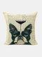 Animal Head Wine Glass Pattern Linen Cushion Cover Home Sofa Art Decor Throw Pillowcase - #10