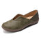LOSTISY Solid Color Stitcing Slip Resistant Casual Slip On Flat Shoes