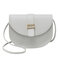 Women Solid Casual PU Crossbody Bag Shoulder Bag - Grey