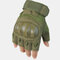 Mountaineering Fitness Sports Tactical Gloves Outdoor Motorcycle Riding Gloves Climbing Wristbands - Green