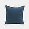 Solid Color Sofa Pillowcase Polyester Linen Creative Car Cushion Room Living Room Pillow - Dark Blue