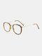 ユニセックスオーバルフレームメタルとPCフレームアンチブルーライトアンチUVサングラス - #08