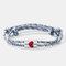 2 Pcs Heart-Shape Couple Bracelets Set Adjustable Round Magnet Bell Braided Rope Bracelets - #01