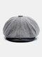Uomo Plus Cappello ottagonale in cashmere tinta unita Cappello da esterno per il tempo libero Wild Forward Cappello piatto - Grigio chiaro
