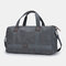 Men Canvas Travel Patchwork Large Capacity Handbag Crossbody Bag - Grey