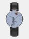 Mens Cartoon Astronaut&Earth Print Quartz Watch - Blue