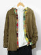 Mens Solid Color Cable Knitting Lapel Casual Toggle Cardigans - Green