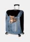 Custodia protettiva per bagagli da viaggio resistente all'usura con stampa gatto - #08
