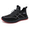Men Mesh Breathable Elastic Lace Up Casual Sport Running Shoes