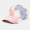 Unisex Tie-dye Cotton Multi-color Gradient Color Sunscreen Visor Sun Hat Baseball Hat - #04