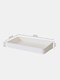 Wall-Mounted Punch-Free Easy Assembly Hanging Board Hook Rack Shelf DIY Bathroom Kitchen Storage Holder Hole Plate Wall Decor Display Stand - White Rectangle Box