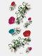 40 piezas 3D estéreo Impermeable tatuajes pegatinas escorpión flor transferencia de agua tatuaje pegatinas - 15