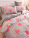 4Pcs Floral Overlay Print Three-dimensional 6D Carved Velvet Comfy Bedding Thickened Winter Warmth Double Milk Velvet Quilt Cover - #17