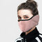Men Women Winter Warm Cold Dustproof Breathable Warm Ears Outdoor Cycling Ski Travel Mouth Mask - Purple