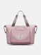 Large Capacity Scalable Design Travel Bag Dry And Wet Separation Waterproof Foldable Multi-Pockets Tote - Pink