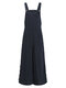 Solid Color Button Long Sleeveless Casual Jumpsuit for Women - Navy