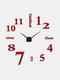 Horloge murale miroir acrylique numérique 3D stéréo bricolage moderne Simple peinture murale horloge autocollant mural horloge - rouge