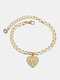 Luxury 26 English Letters Women Anklet Wild Heart Pendant Anklet Jewelry Gift - W