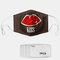Lip Pattern Polyester Fashion Dustproof Mask With 7 Mask Gaskets - #01