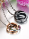 Vintage Interlocking Stainless Steel Couple Necklace - Couple