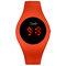 カジュアルスポーツ男性女性LED電子Watchシリコンバンド発光センサー防水デジタルWatch - 赤