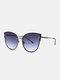 Unisex Metal Cat-eye Frame Hollow Bridge Colorful Lens Anti-UV Sunglasses - #02