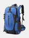 Large Capacity 40L Multi-pockets Anti-scratch Load-bearing Mountaineering Multifunctional Buckle Outdoors Backpack - Blue
