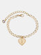 Luxury 26 English Letters Women Anklet Wild Heart Pendant Anklet Jewelry Gift - I