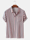 Men Striped Printed Casual Holiday Shirt - Light Pink