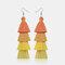 Bohemian Handmade Multi-layer Tassel Earrings Irregular Gradient Tassel Long Earrings - 1