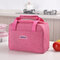 1 Piece Portable Lunch Bag Aluminum Foil Thermal Food Bag Cooler Bag - Rose Red