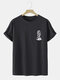Mens Funny Skull Graphic Casual 100% Cotton Short Sleeve T-Shirts - Black