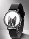 Animal Printed Men Business Watch Black-White Dogs Cats Pattern Women Quartz Watch - #02