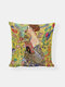 Abstract Oil Painting Character Pattern Linen Cushion Cover Home Sofa Art Decor Throw Pillowcase - #03