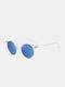 Unisex Transparent Full Frame Polarized UV Protection Coated Sunglasses - Transparent frame/Blue
