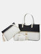 Simple and Fashionable All-match Large-capacity Crossbody Handbag Four-piece Portable Son Mother Bag - #01
