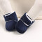 Baby Toddler Shoes Cute Comfy Plush Warm Soft Sole Hook Loop Snow Boots - Blue