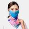 Summer Ear-mounted Printing Masks Neck Protection Sunscreen Scarf Shawl - Navy