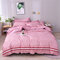 Simple Style Comfortable Bedding Fashion Striped Quilt Pillowcase - Pink