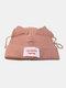 Men & Damen Cute Piggy Katze Ohren Plain Color Warm halten Winddicht gestrickt Hut - Rosa